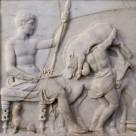Relief– Jägergruppe: Hippolytos nach erfolgreicher Jagd