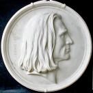 """Portraitmedaillon– """"Franz Liszt"""""""