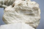 """Skulptur — """"Bildnisbüste der Amalbergis"""" Detail (Vorzustand)"""