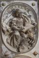 Kaufmannskirche Erfurt, Epitaph Sigismund von der Sachsen, Detail, Medaillon-Relief Evangelist Markus, Vorzustand