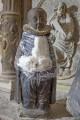 Kaufmannskirche Erfurt, Epitaph Sigismund von der Sachsen, Stifterfigur, Zwischenzustand, Ethanol-Kompresse zur Abnahme der Überfassungen