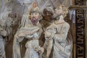 Kaufmannskirche Erfurt, Epitaph Sigismund von der Sachsen, Hauptrelief Detail Figurengruppe, Endzustand