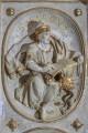 Kaufmannskirche Erfurt, Epitaph Sigismund von der Sachsen, Detail, Medaillon-Relief Evangelist Markus, Endzustand