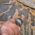 Laserreinigung einer Sandsteinskulptur