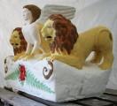 Grabstein des Firmus – Kopie Bekrönungsstein mit plastischer und farblicher Rekonstruktion