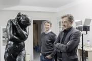 Besuch im Atelier - Der Präsident der Bauhaus-Universität Weimar, Prof. Dr. W. Speitkamp interessiert sich sehr für unsere Arbeiten.