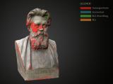 """Beispiel einer 3D-Kartierung (Büste """"Adolf von Donndorf"""")"""