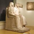 Skulptur – Grabstatue Maya und Merit, während der konservatorischen und restauratorischen Behandlung