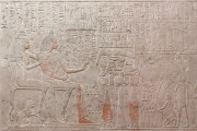 Wandrelief aus dem Grab des Merymery (Inv. Nr. AP 6b) – Detail, nach der konservatorischen und restauratorischen Behandlung
