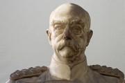 """Plastik — """"Otto Fürst von Bismarck"""" (während der Reinigung)"""
