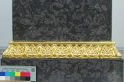Sockel der Wielandbüste im Stadtschloß — Endzustand, Detail neuvergoldete Stuckleiste