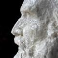 """Plastik — """"Portait Ernst Haeckel"""" (während der Reinigung mit Laponite® RD-Gel)"""