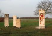 Ensemble der Kopie römischer Grabsteine im archäologischen Park in Xanten