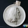 "Portraitmedaillon — ""Franz Liszt"" – Vorzustand"