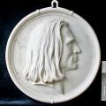 """Portraitmedaillon — """"Franz Liszt"""" – Endzustand"""