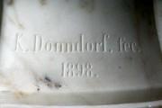 "Skulptur — ""Großherzogin Sophie"" Detail: Signatur: K. Donndorf. fec. 1898."
