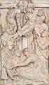 """Epitaph des Heinrich von Bünau – Relief """"Kreuzabnahme"""", Endzustand"""