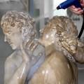 Reinigung einer Skulpturengruppe mittels Mikrodampfstrahlverfahren