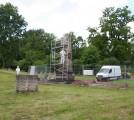 Obelisk auf dem sowjetischen Ehrenfriedhof in Weimar Belvedere – Reinigung der Steinoberflächen, Sandstrahlverfahren