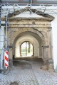 Schloss Ehrenstein, Renaissance-Portal der Tordurchfahrt an der Westfassade des Ostflügels – Vorzustand