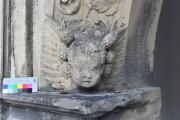 Renaissance-Portal, Schloss Ehrenstein – nördlicher Engelskopf, Vorzustand