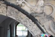 Renaissance-Portal, Schloss Ehrenstein – südlicher Rundbogenstein, Vorzustand
