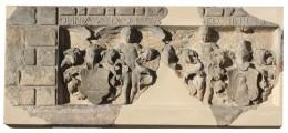"""Wappenstein aus der Fassade des ehemaligen """"Haus zum Rosenbaum"""" in Erfurt – Endzustand"""