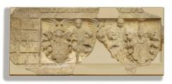 """Wappenstein aus der Fassade des ehemaligen """"Haus zum Rosenbaum"""" in Erfurt – Visualisierung des Ergänzungsgrades"""