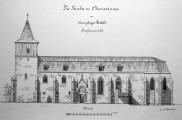 Zeichnung der Kirche St. Peter und Paul in Oberweimar